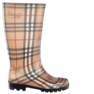 Burberry Tartan Nova check rainy day boots 8